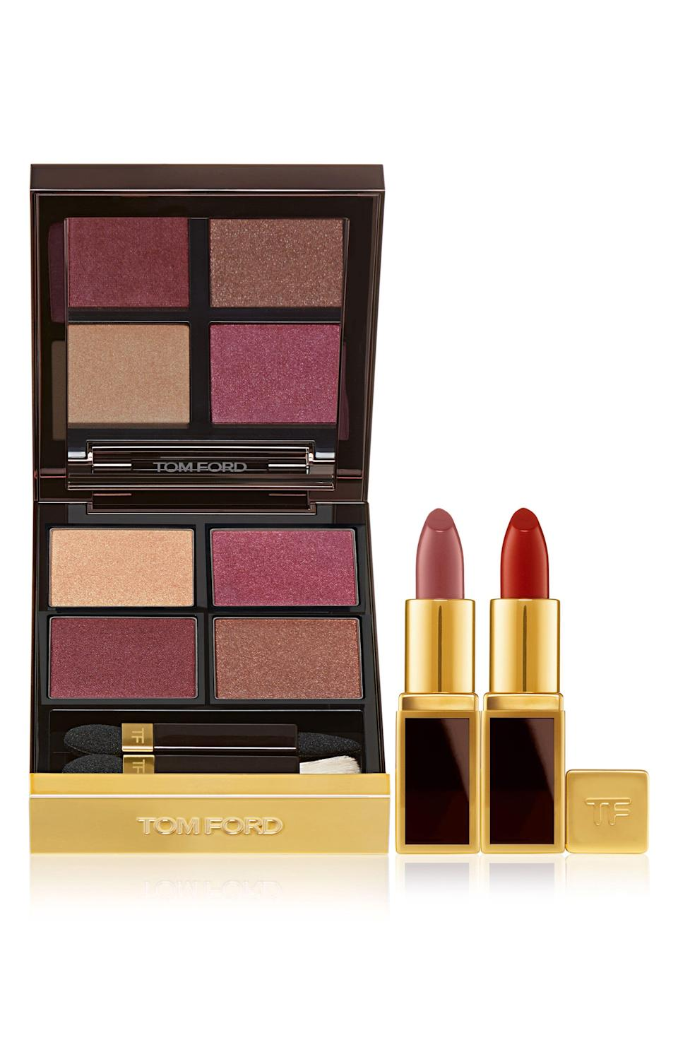 "<p><strong>TOM FORD</strong></p><p>nordstrom.com</p><p><a href=""https://go.redirectingat.com?id=74968X1596630&url=https%3A%2F%2Fwww.nordstrom.com%2Fs%2Ftom-ford-eye-color-quad-mini-lip-color-set%2F5605637&sref=https%3A%2F%2Fwww.townandcountrymag.com%2Fstyle%2Fbeauty-products%2Fg33595678%2Fbeauty-buys-to-pick-up-during-the-2020-nordstrom-anniversary-sale%2F"" rel=""nofollow noopener"" target=""_blank"" data-ylk=""slk:Shop Now"" class=""link rapid-noclick-resp"">Shop Now</a></p><p>$88 </p>"