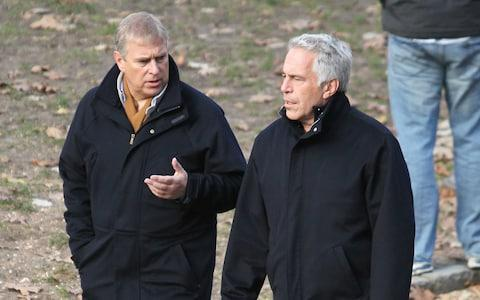 Prince Andrew with convicted sex offender, Jeffrey Epstein
