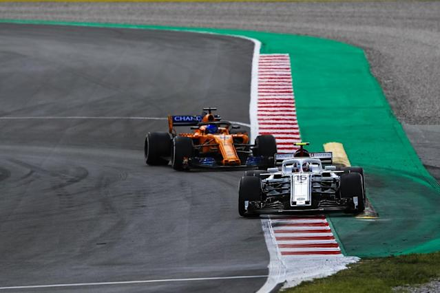 Sauber rookie Charles Leclerc believes he learned twice as much in the Spanish Grand Prix because he was fighting two-time Formula 1 world champion Fernando Alonso