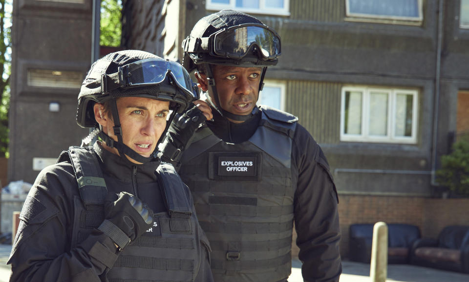 Vicky McClure and Adrian Lester play bomb disposal operatives known as 'Expos' in ITV's six-part thriller series Trigger Point (ITV)