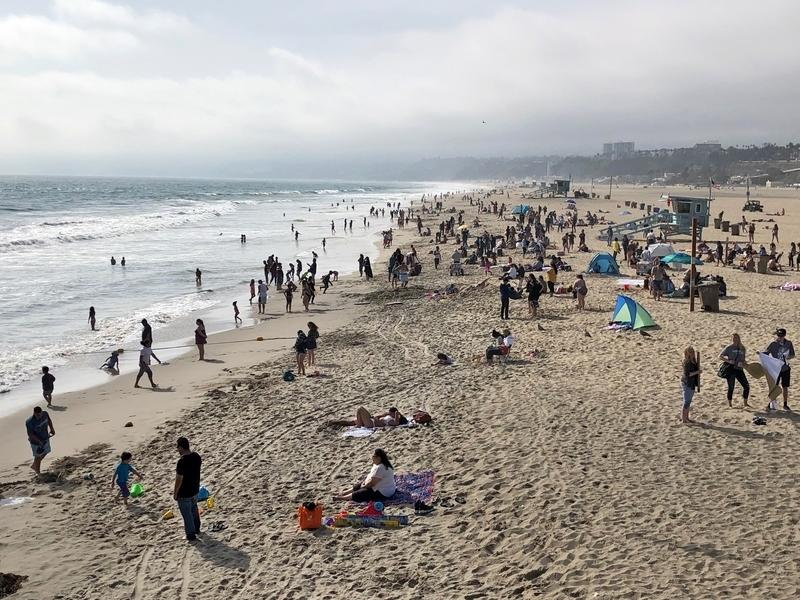 Beaches are set to close starting Friday in Santa Monica.