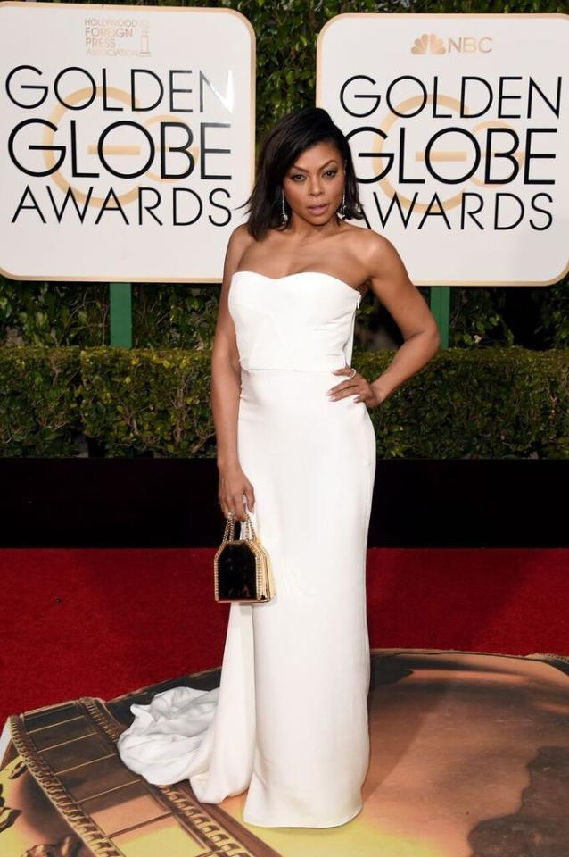 Best: Taraji P. Henson in Stella McCartney working it in white at the 73rd Annual Golden Globe Awards.