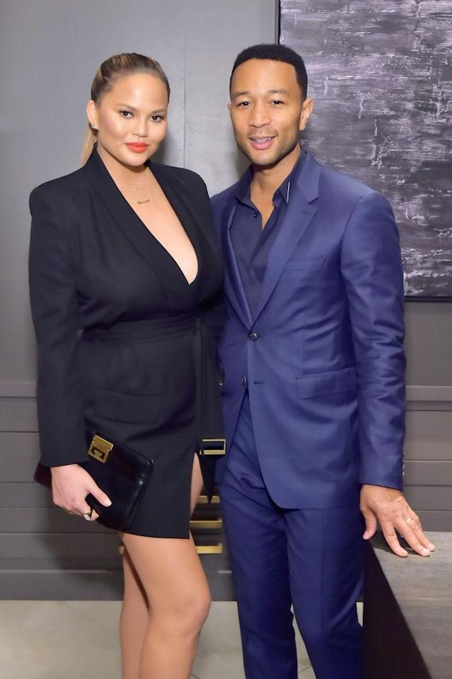 Chrissy Teigen and John Legend. (Photo: Getty Images)
