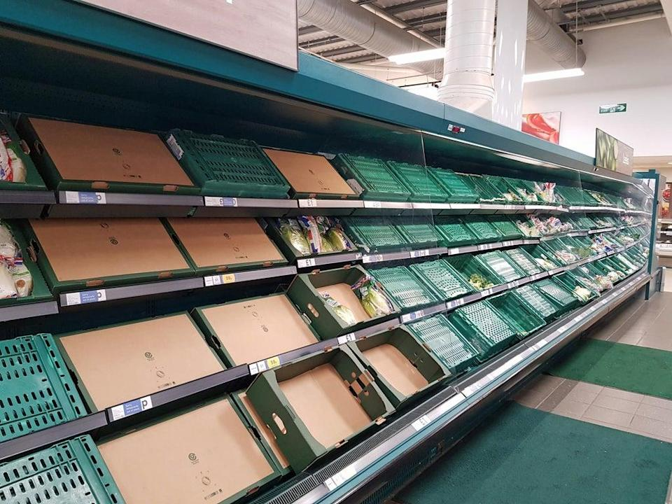 Supermarkets have been hit by supply problems after Brexit. (Michael Drummond/PA)