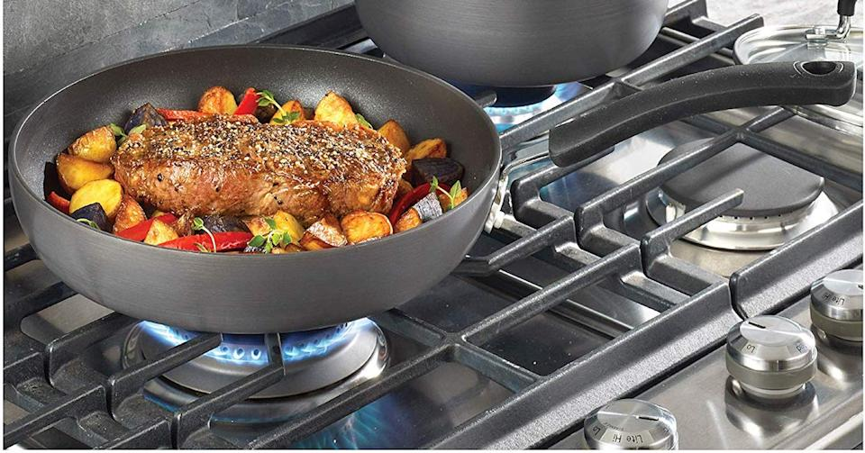 Non-stick cookware that distributes heat easily? That's T-fal's claim to fame. (Photo: Amazon)