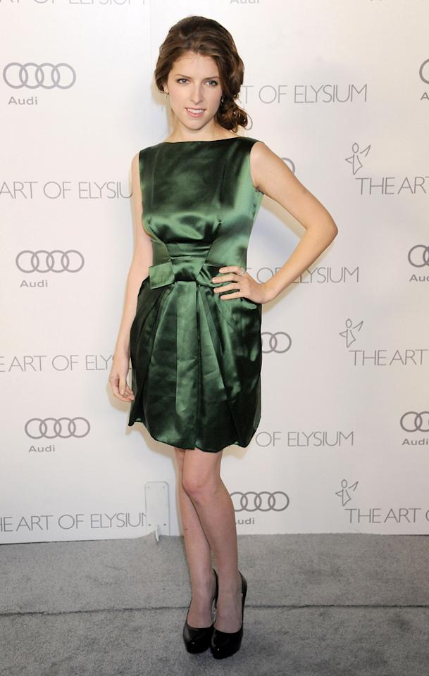 LOS ANGELES, CA - JANUARY 12:  Actress Anna Kendrick arrives at The Art of Elysium's Heaven Gala at 2nd Street Tunnel on January 12, 2013 in Los Angeles, California.  (Photo by Gregg DeGuire/WireImage)