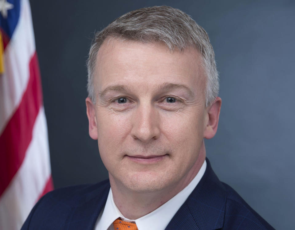 In this image provided by Public Health Emergency, a department of Health and Human Services, Rick Bright is shown in his official photo on April 27, 2017, in Washington. (Health and Human Services via AP)
