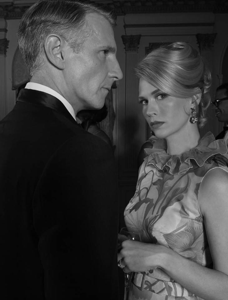 Henry Francis (Christopher Stanley) and Betty Francis (January Jones) - Mad Men - Season 6