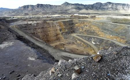 FILE PHOTO: A general view of the open pit mine is seen during a tour of Molycorp's Mountain Pass Rare Earth facility in Mountain Pass, California