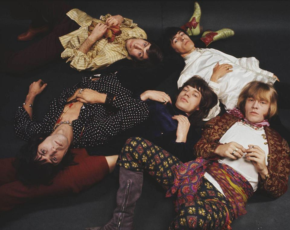 <p>Group shot of English rock and roll band The Rolling Stones posed in 1968. Clockwise from top left: Charlie Watts, Bill Wyman, Brian Jones (1942-1969), Mick jagger and Keith Richards.</p>