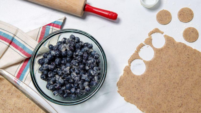 LOS ANGELES, CA-June 6, 2019: Blueberry Bars in process on Thursday, June 6, 2019. Cooked and styled