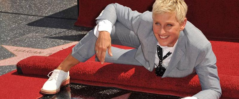 Ellen DeGeneres on the Hollywood Walk of Fame, 2012