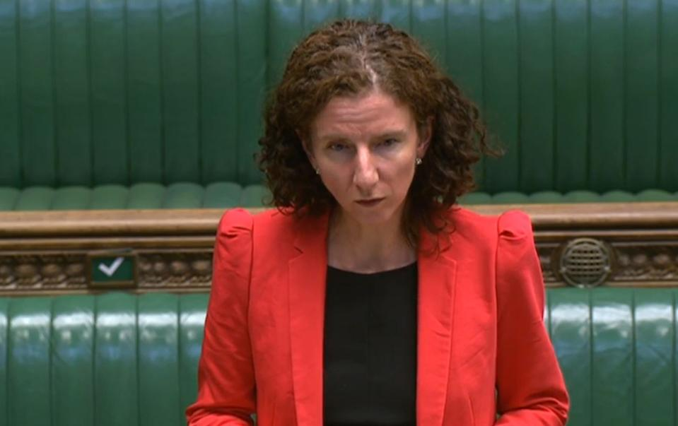 Shadow chancellor Anneliese Dodds responds after Chancellor of the Exchequer Rishi Sunak set outs his Winter Economy Plan to MPs in the House of Commons, London. Photo: House of Commons/PA via Getty Images