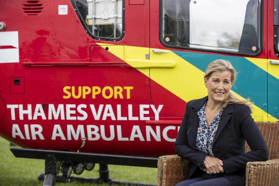 The Countess of Wessex during a visit to Thames Valley Air Ambulance at White Waltham in Maidenhead, Berkshire, to help launch their 21st anniversary celebrations ahead of National Air Ambulance Week.