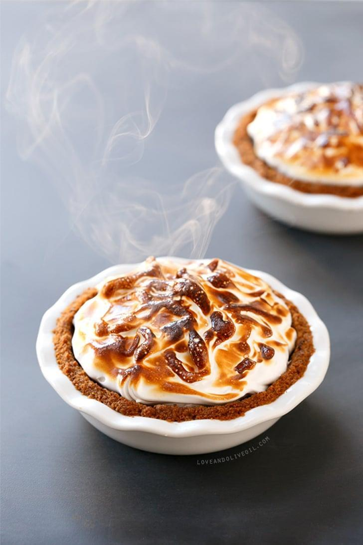 "<p>It doesn't get much more American than this <a href=""http://www.loveandoliveoil.com/2013/11/smores-pumpkin-pie.html"" class=""link rapid-noclick-resp"" rel=""nofollow noopener"" target=""_blank"" data-ylk=""slk:s'mores pumpkin pie"">s'mores pumpkin pie</a>.</p>"