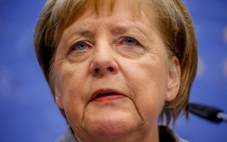 "Angela Merkel said the EU was united in wanting a trade deal , which was ""in the interests of all"" - Rex"