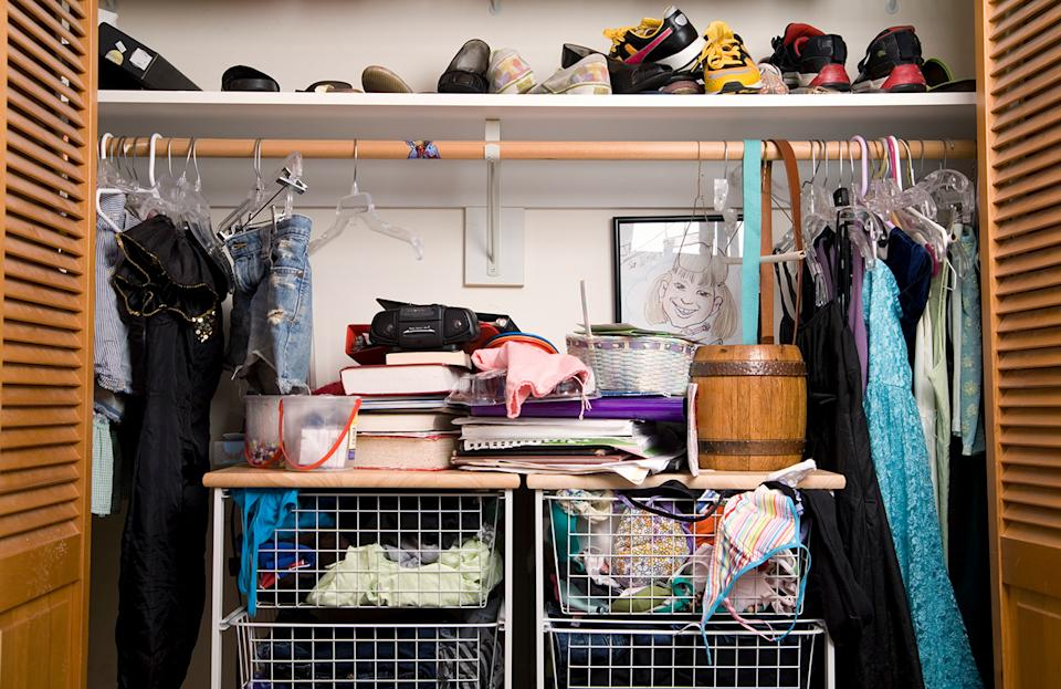 If your wardrobe looks like this, it's time to give it a makeover! (Image: Getty Images)