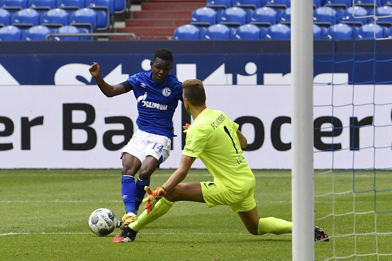 Matondo featured for Schalke against Augsburg on Saturday Photo: AP