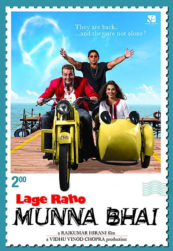 Dutt returns as Munna Bhai, but this time he embarks on a journey with Mahatma Gandhi in order to fight against a corrupt property dealer.