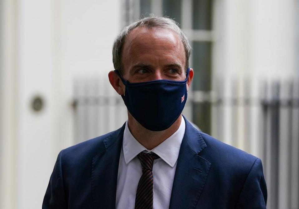 Foreign Secretary Dominic Raab has come under fire for going on holiday as the crisis began (Kirsty O'Connor/PA) (PA Wire)