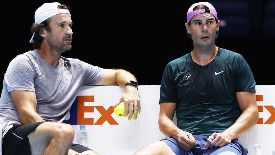 Rafael Nadal and coach Carlos Moya, pictured here at the Nitto ATP World Tour Finals.