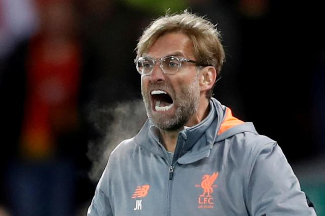 FILE PHOTO: Soccer Football - Champions League Semi Final First Leg - Liverpool vs AS Roma - Anfield, Liverpool, Britain - April 24, 2018 Liverpool manager Juergen Klopp Action Images via Reuters/Carl Recine/File Photo