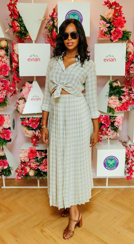 <p>Elba attended the championships in the Evian Live Young suite. </p>
