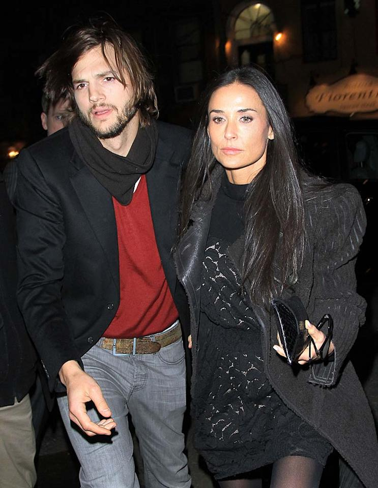 """Following six years of marriage and weeks of rumors that he had cheated, Demi Moore, 49, announced November 17 that she planned to divorce Ashton Kutcher, 33. The most surprising thing about the split? The two frequently turned to Twitter to chronicle their lives, yet Demi broke the news in a full-length statement, rather than a 140-character tweet. """"As a woman, a mother and a wife there are certain values and vows that I hold sacred, and it is in this spirit that I have chosen to move forward with my life,"""" it read in part."""