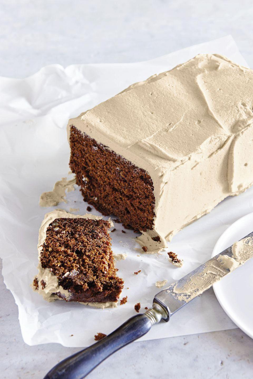 """<p>This quick and easy dessert is proof that complicated, three-tiered layer cakes are overrated. </p><p><em><a href=""""https://www.goodhousekeeping.com/food-recipes/dessert/a40367/outlaw-carrot-cake-with-brown-sugar-butter-cream-recipe/"""" rel=""""nofollow noopener"""" target=""""_blank"""" data-ylk=""""slk:Get the recipe for Outlaw Carrot Cake with Brown Sugar Butter Cream »"""" class=""""link rapid-noclick-resp"""">Get the recipe for Outlaw Carrot Cake with Brown Sugar Butter Cream »</a></em> </p>"""