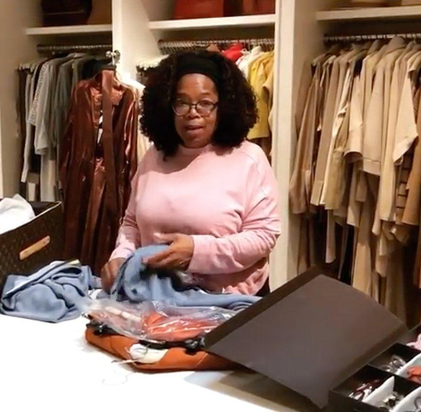 "The mogul <a href=""https://www.instagram.com/p/BysmHLPBUy4/"">swears she doesn't like packing</a>, but in her massive, hyperorganized closet (check out her case just for glasses!) we don't see how it could be anything but soothing."
