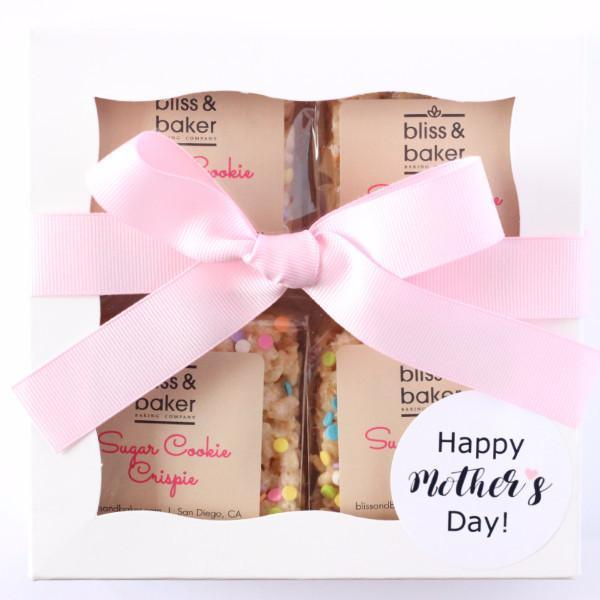 "<h3>Bliss & Baker Gift Box</h3><br><br>Bliss and Baker's delicious, small-batch rice crispies are the brainchild of a mother-daughter duo, making Mother's Day the perfect time to give a box. (Just make sure mom shares.)<br><br><strong>Bliss & Baker</strong> Gift Box (4-piece), $, available at <a href=""https://go.skimresources.com/?id=30283X879131&url=https%3A%2F%2Fblissandbaker.com%2Fcollections%2Fgifts%2Fproducts%2Fgift-box"" rel=""nofollow noopener"" target=""_blank"" data-ylk=""slk:Bliss & Baker"" class=""link rapid-noclick-resp"">Bliss & Baker</a>"