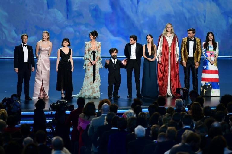 "The cast of ""Game of Thrones"" appeared to present an Emmy -- the show is the winningest drama series in Emmys history"