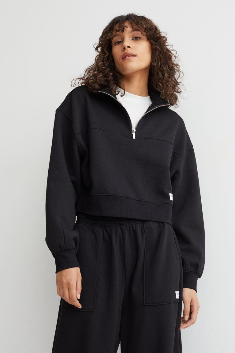 <p>You can't go wrong with this <span>H&amp;M Zip-top sweatshirt</span> ($18). It looks great with sweats, leggings, or even denim cutoffs.</p>