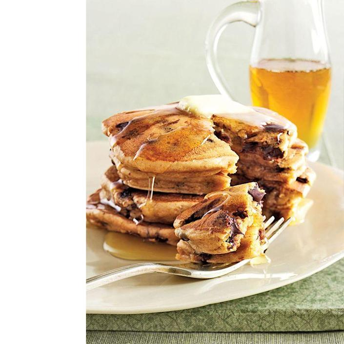 """<p>A recipe that combines peanut butter and chocolate? The ultimate Father's Day gift. Dad might need to take a power nap to recharge after this sweet breakfast treat, but it's definitely worth it. </p><p><em><a href=""""https://www.womansday.com/food-recipes/food-drinks/recipes/a13684/peanut-butter-chocolate-chip-pancakes-3440/"""" rel=""""nofollow noopener"""" target=""""_blank"""" data-ylk=""""slk:Get the Peanut Butter and Chocolate Chip Pancakes recipe."""" class=""""link rapid-noclick-resp"""">Get the Peanut Butter and Chocolate Chip Pancakes recipe.</a></em></p>"""