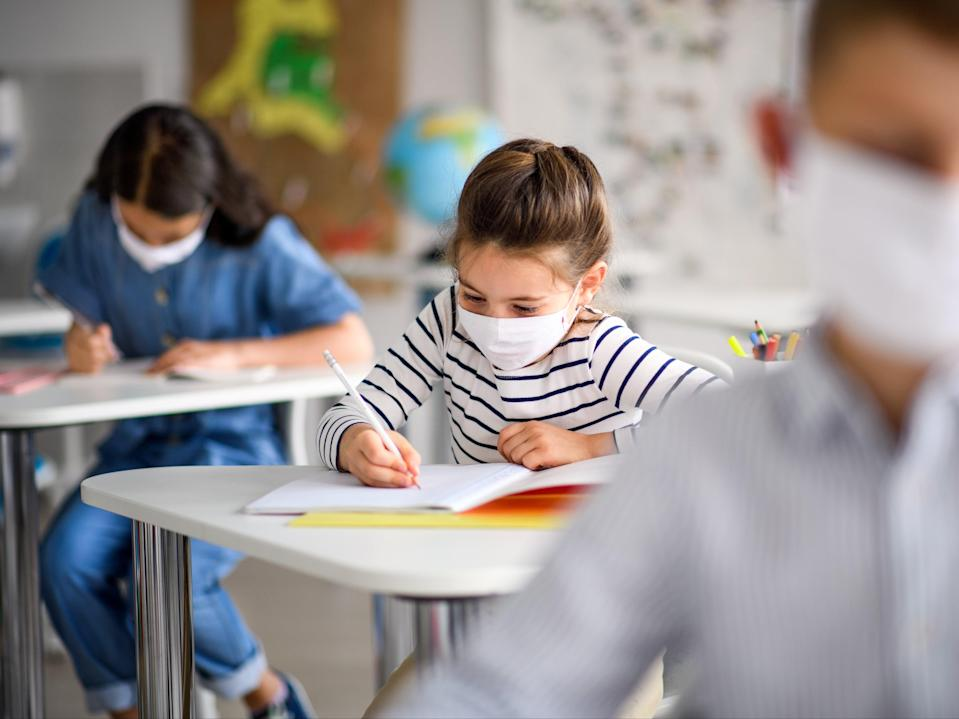 At least two primary schools have requested pupils where face masks when they return on 8 March (Getty Images/iStockphoto)