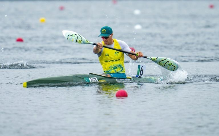 No regrets: Curtis McGrath powers to gold in the KL2 canoe sprint final at the Sea Forest Waterway Friday (AFP/Thomas LOVELOCK)
