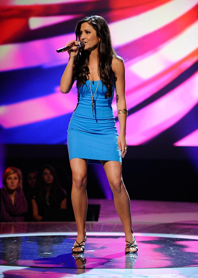"Ann Marie Boscovich performs ""(You Make Me Feel Like) A Natural Woman"" by Aretha Franklin on ""American Idol."""