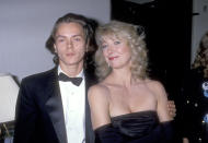 LOS ANGELES - APRIL 1: Actor River Phoenix and actress Teri Garr attend the Fourth Annual American Cinematheque Award Honoring Steven Spieldberg on April 1, 1989 at Century Plaza Hotel in Los Angeles, California. (Photo by Ron Galella, Ltd/Ron Galella Collection via Getty Images)