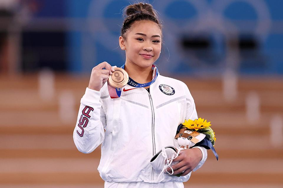 """<p>Biography: 18 years old</p> <p>Event: Uneven bars (gymnastics)</p> <p>Quote: """"I'm really proud of myself for staying with it, because there were so many times in my bar routine where I just could have gave up and just jumped off. But I didn't. And now I have a bronze medal.""""</p>"""