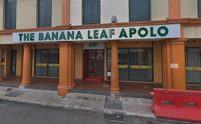 The Banana Leaf Apolo restaurant at Little India. (PHOTO: Google Maps)