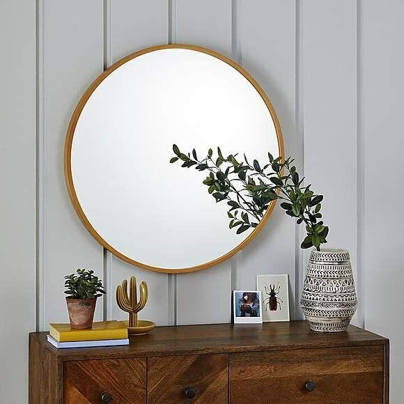 Circular Wooden Mirror, Dunelm (Photo: HuffPost UK)