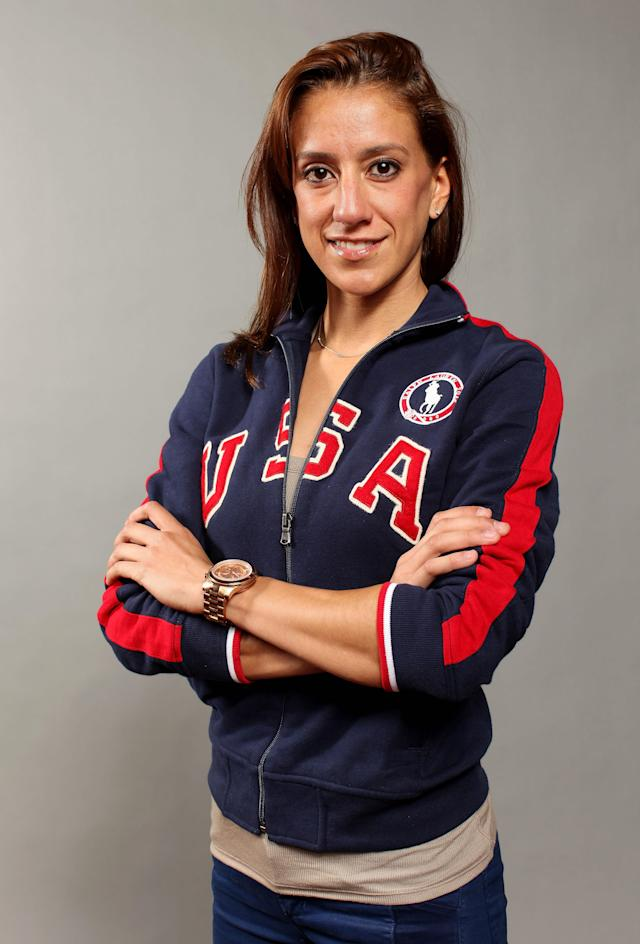 DALLAS, TX - MAY 13: Taekwondo athlete, Diana Lopez poses for a portrait during the 2012 Team USA Media Summit on May 13, 2012 in Dallas, Texas. (Photo by Nick Laham/Getty Images)