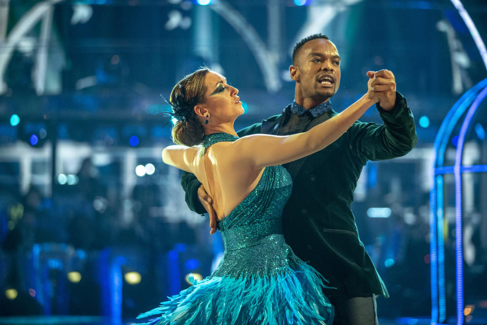 Catherine Tyldesley praised Johannes Radebe for giving her confidence on the show (Photo: BBC)
