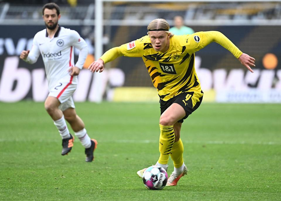 Erling Haaland has scored 33 goals in all competitions for Borussia Dortmund this season.