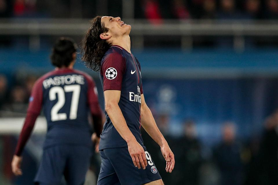 Edinson Cavani and Paris Saint-Germain once again came up well short of the club's ultimate goal: winning the Champions League. (EFE)
