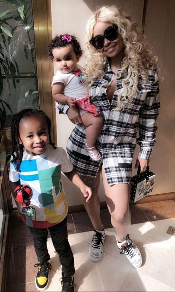 Blac Chyna with Dream and King Cairo