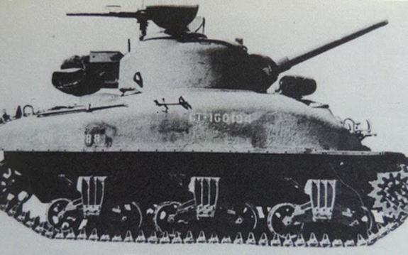 A historical photo of the Canadian tank. Under 200 of the tanks were produced in total between 1943 and 1944.