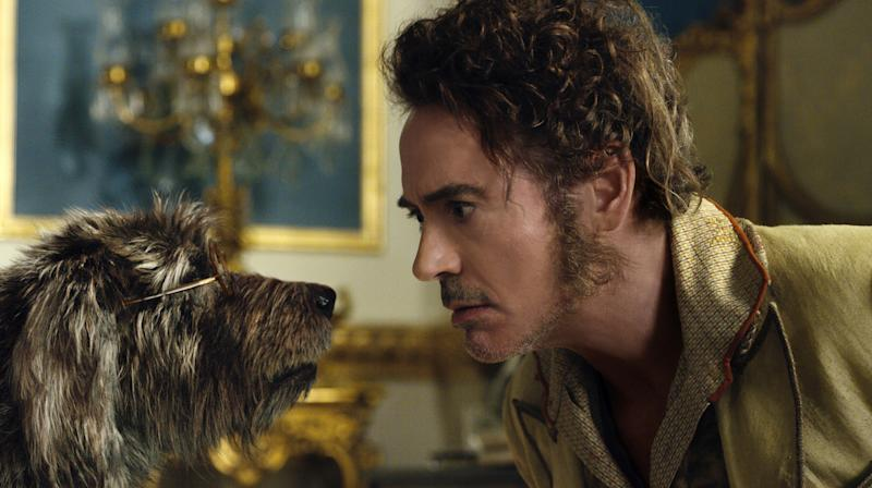 Robert Downey Jr as Dr Dolittle, a vet who has the ability to communicate with animals. Photo: Amazon Prime