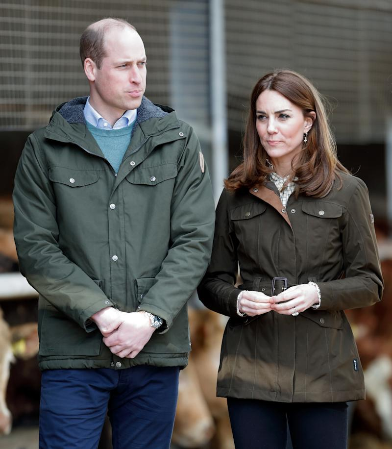 DUBLIN, IRELAND - MARCH 04: (EMBARGOED FOR PUBLICATION IN UK NEWSPAPERS UNTIL 24 HOURS AFTER CREATE DATE AND TIME) Prince William, Duke of Cambridge and Catherine, Duchess of Cambridge visit the Teagasc Animal & Grassland Research Centre in Grange, County Meath on March 4, 2020 near Dublin, Ireland. The Duke and Duchess of Cambridge are undertaking an official visit to Ireland at the request of the Foreign and Commonwealth Office. (Photo by Max Mumby/Indigo/Getty Images)