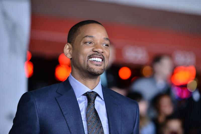 "Will Smith at the premiere of ""Bright."""